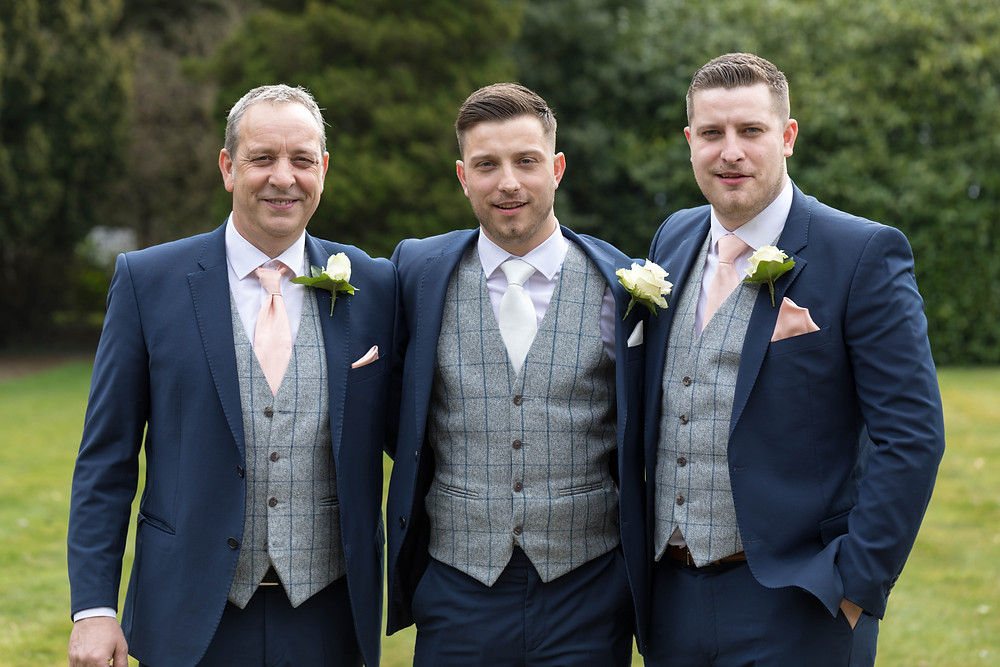 Portrait of the Groom & his father & Brother