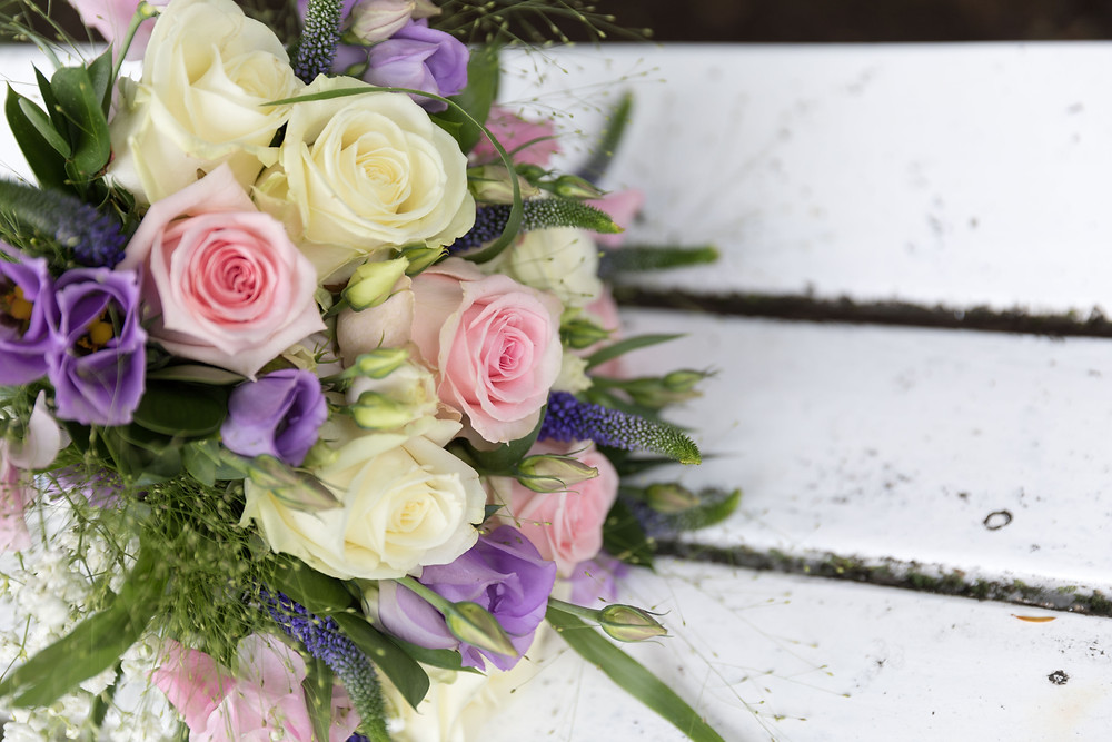wedding details: the bride's bouquet by Jack Cook photographer