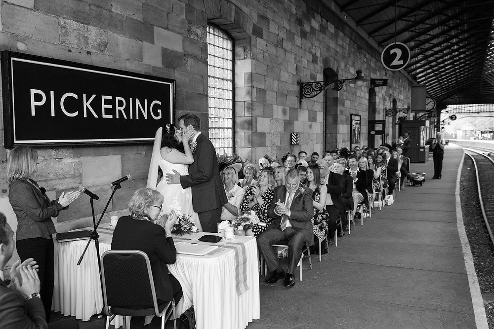 The wedding ceremony by North yorkshire wedding photographer