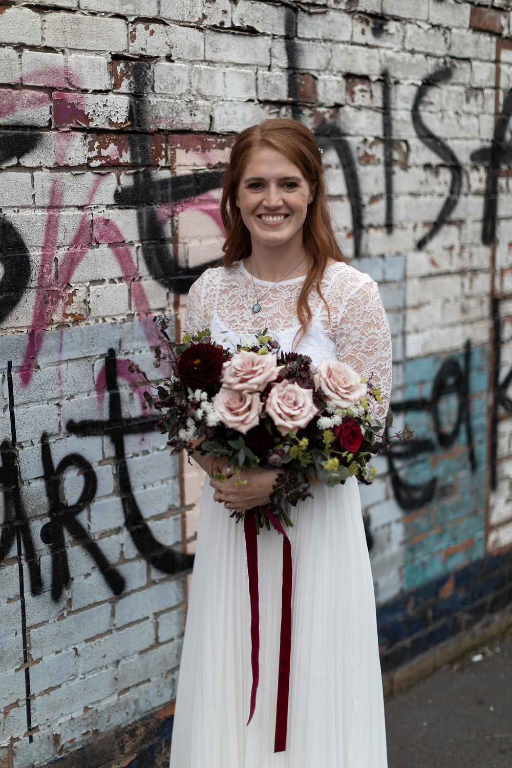 Urban portrait of the bride