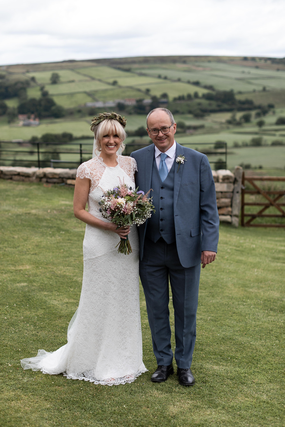The bride and her father by Jack Cook photography