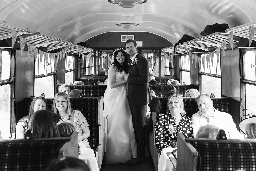 The Bride &Groom during the train journey