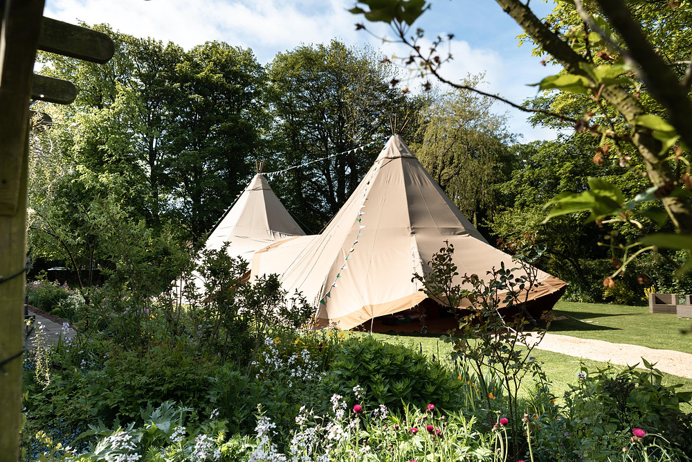 Wedding photography of the tipi wedding venue