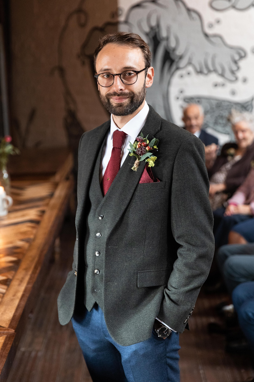 Wedding portrait of the groom