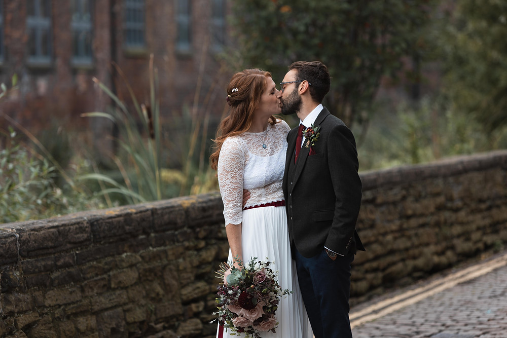 Natural wedding portraits by Whitby wedding photographer