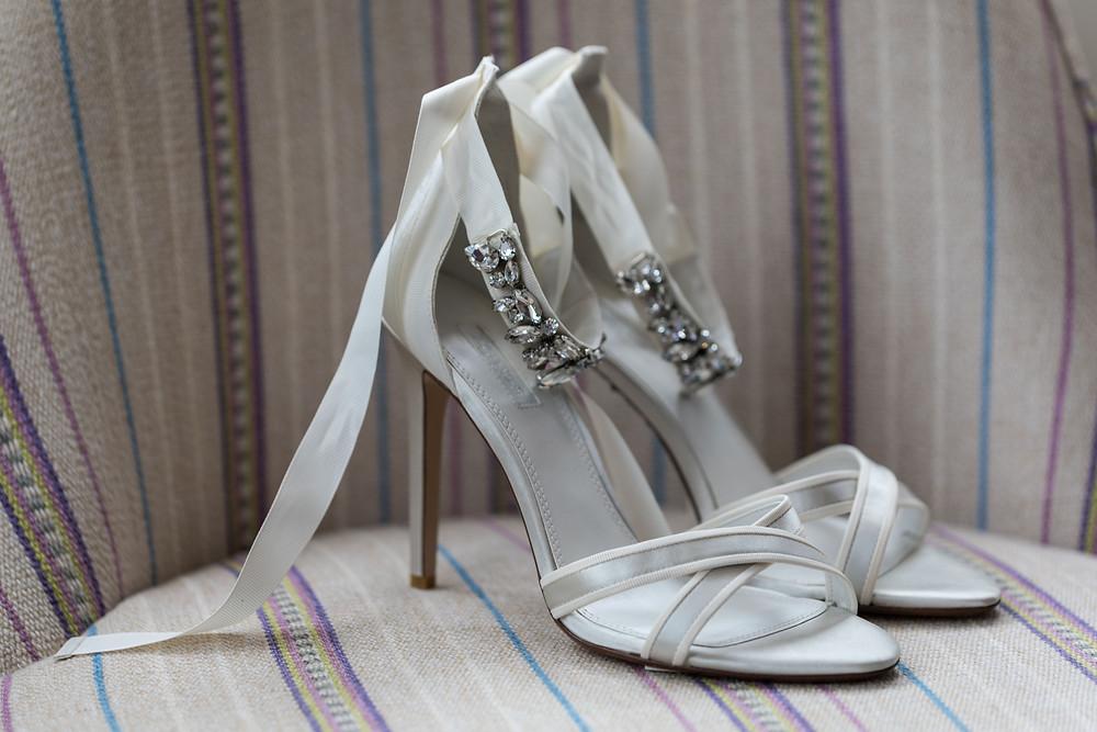 Wedding detail shot: the brides shoes