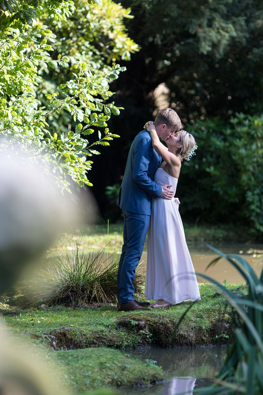 Bride & groom captured by wedding photographer
