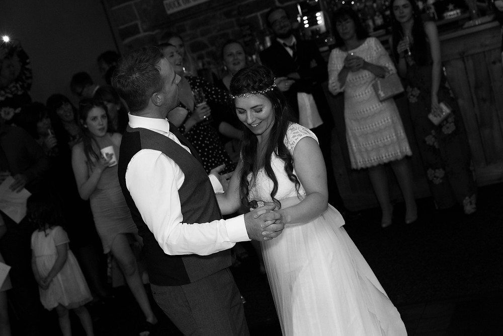 wedding photograph of the first dance
