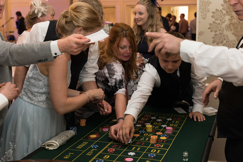 Wedding photo of the casino at the wedding reception