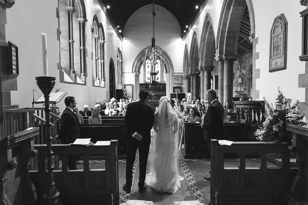 The wedding ceremony captured by Whitby wedding photographer
