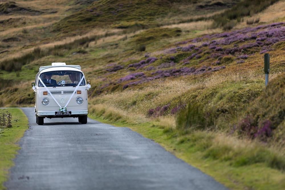 Wedding photo: the VW Wedding car
