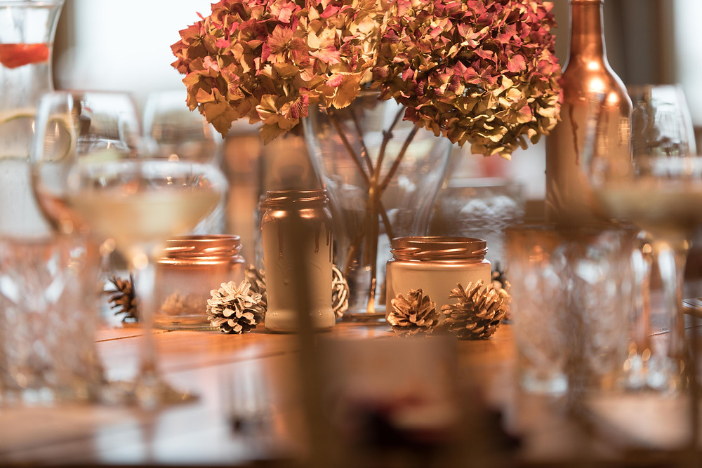 Wedding photography: details of the table settings
