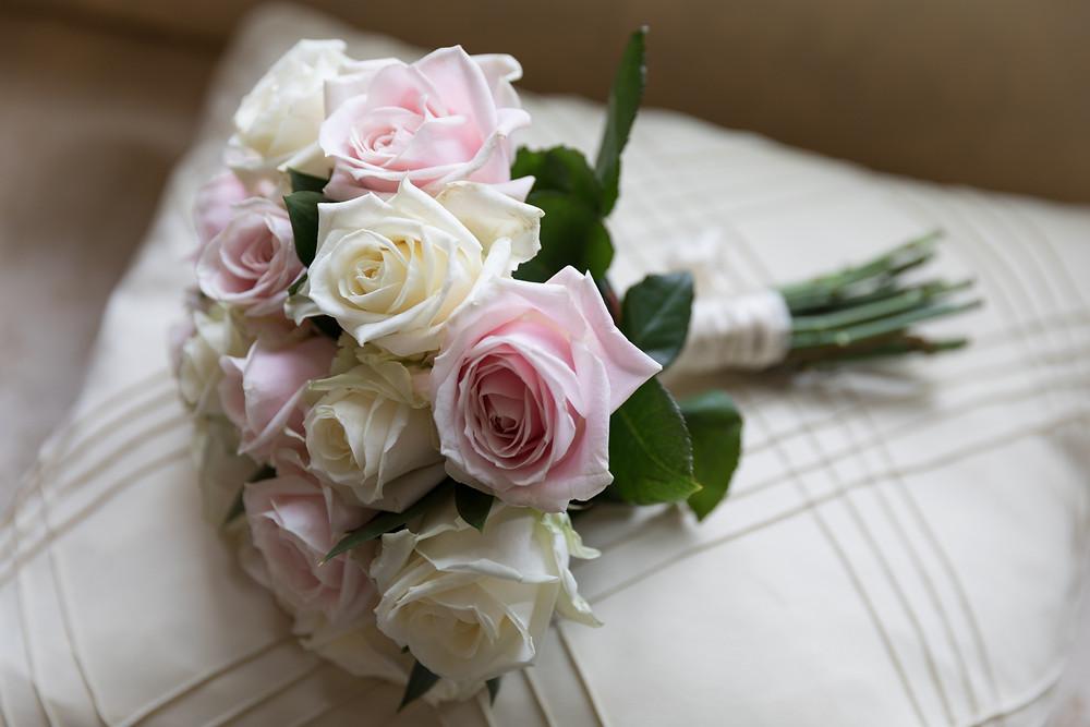 wedding detail shot of brides bouquet