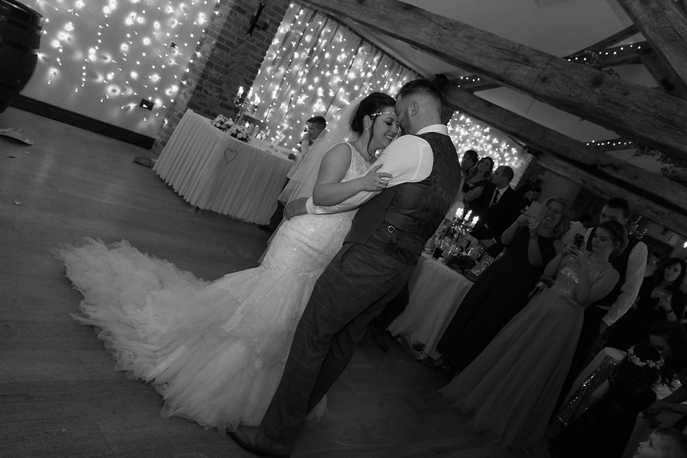 First dance captured by Whitby Wedding Photographer