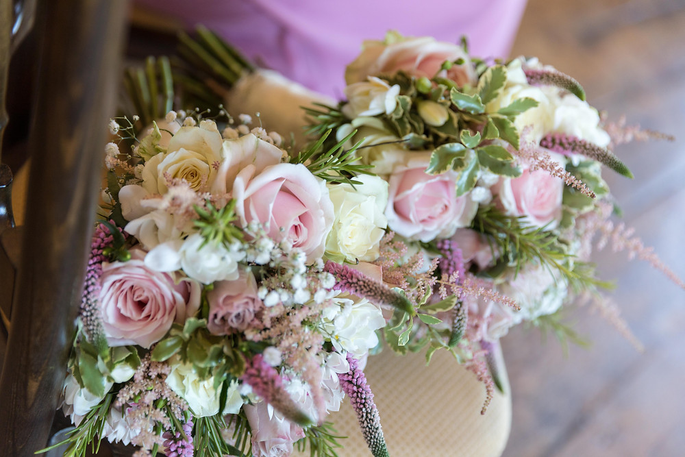 detail shot of flowers by North Yorkshire wedding photographer
