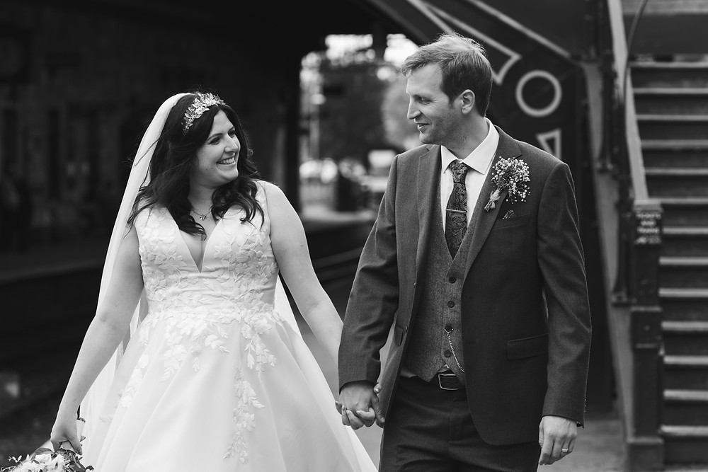 Wedding portrait by Whitby wedding photographer