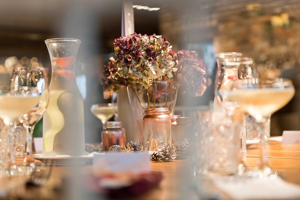 Photo of the wedding reception room