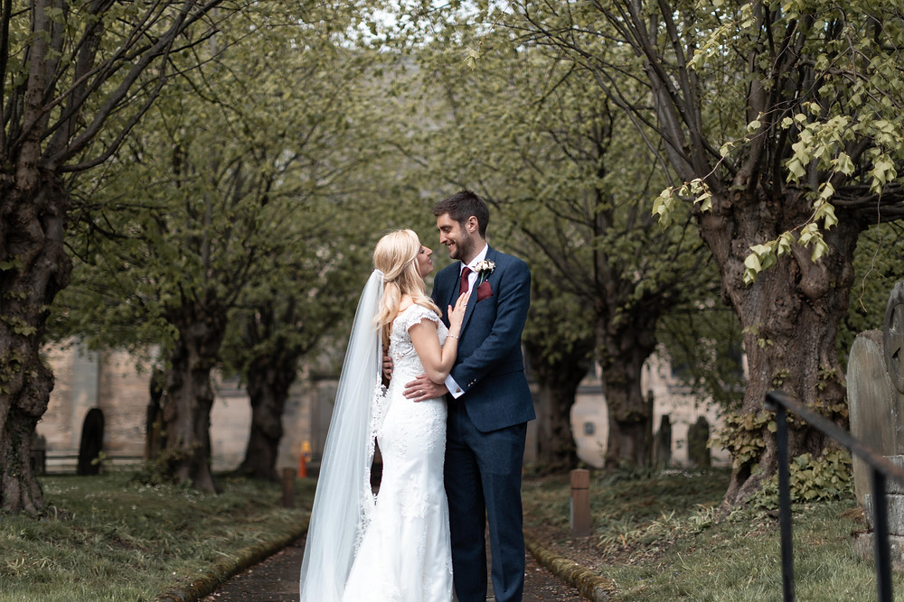Portrait of the bride and groom by Jack Cook Photography