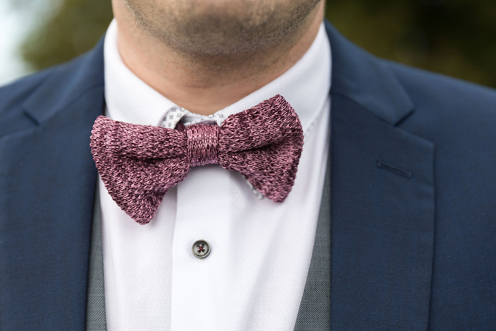 An image of the Groom's bow tie