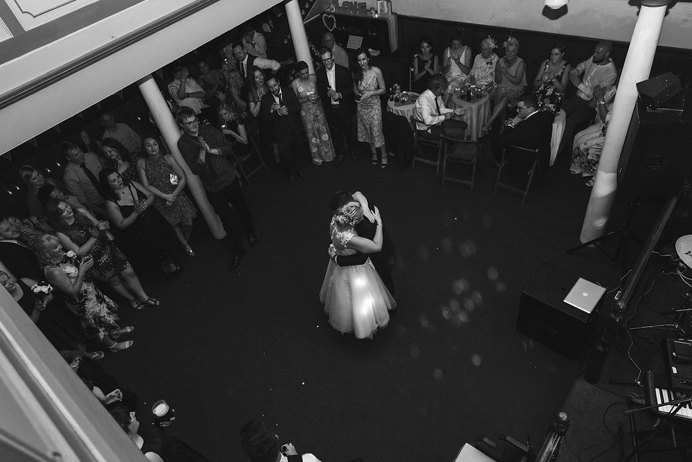The first dance in black & white