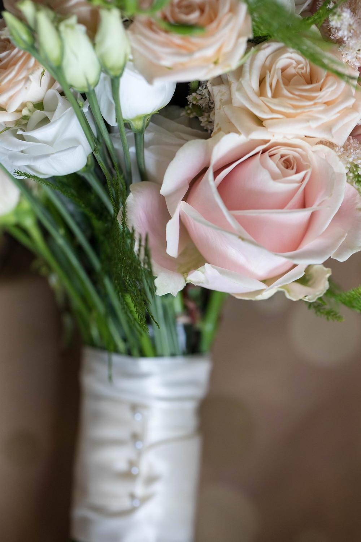 Brides bouquet by north Yorkshire wedding photographer