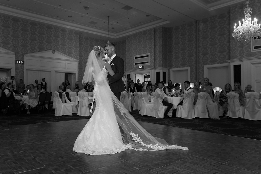 The bride & groom during their first dance
