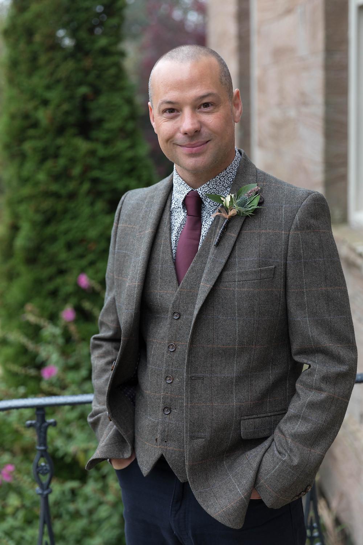 Wedding portrait photograph of the Groom