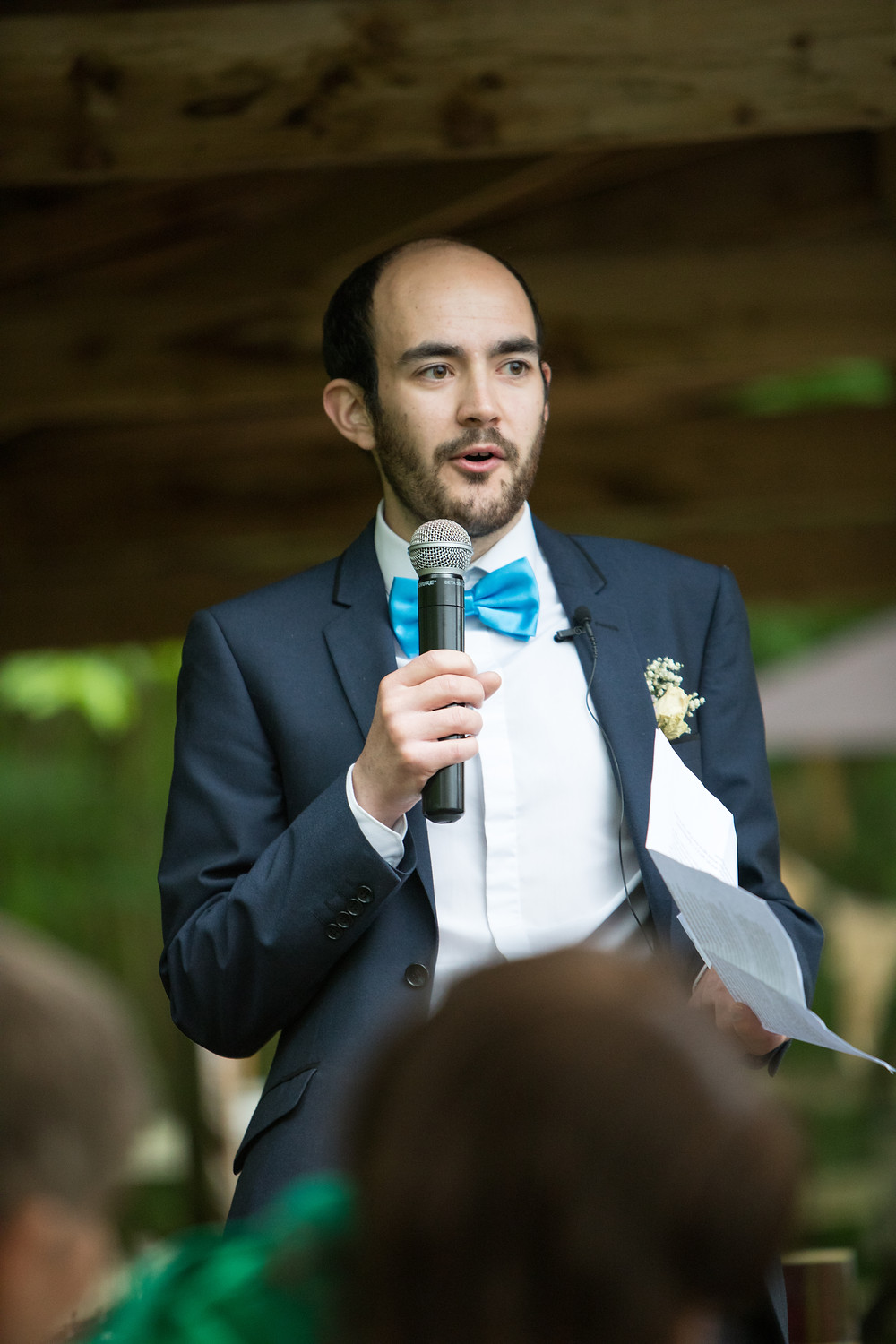 a photo of the best man's speech by Jack Cook wedding photographer