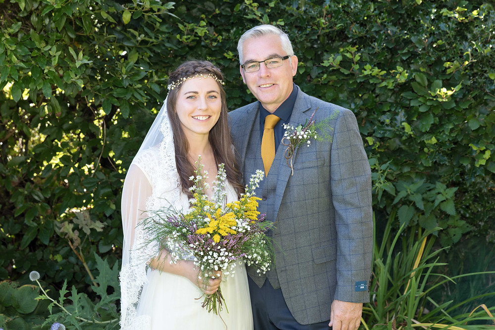 the bride & her father taken by Jack Cook photography