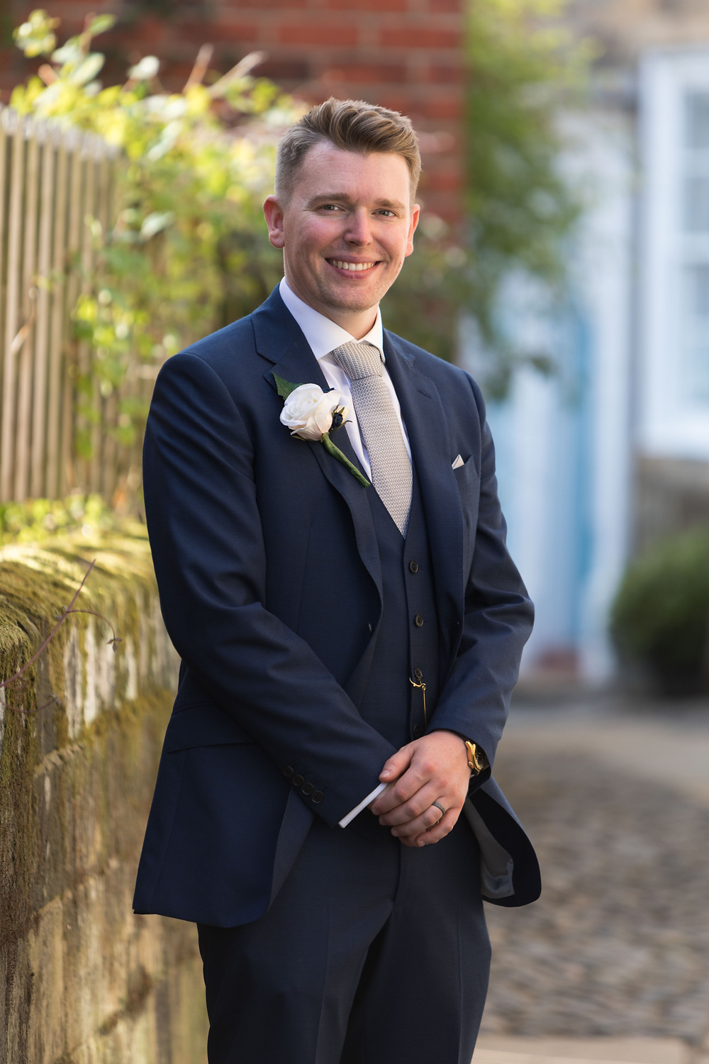 Portrait of the Groom by Jack Cook Photography