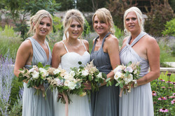 Wedding photograph of bridesmaids