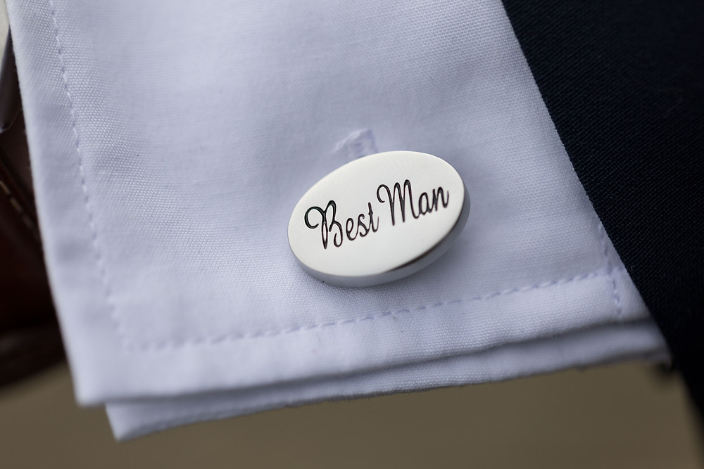 The best man's cuff links