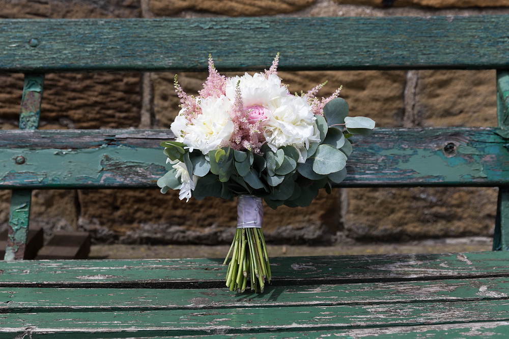 Beautiful wedding photography of the brides bouquet