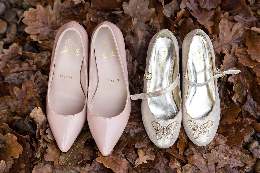 Photo of the bridesmaids & flower girls shoes
