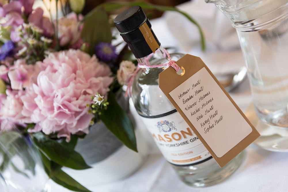 wedding photography of table settings at the venue