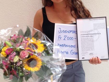 Athena erhält den Jugendförderpreis der Stadt Illnau-Effretikon