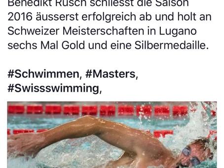Der Gossauer Benedikt Rusch, der für den SCW schwimmt, holt zwei Medaillen.