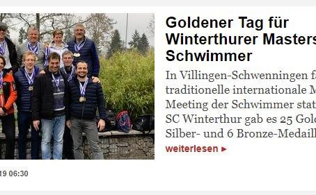 Goldener Tag für Winterthurer Masters-Schwimmer