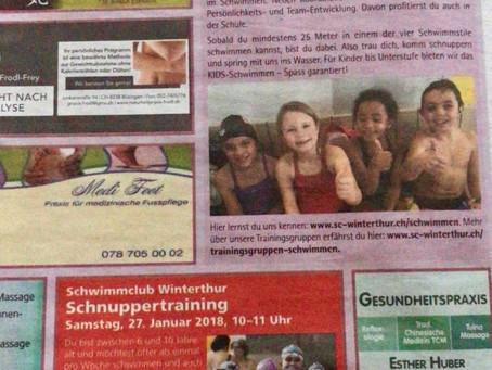 Der Club für Wasserratten/ Schnuppertraining