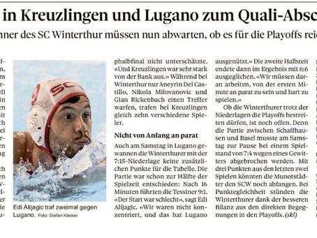 Vorausgesehene Niederlagen in Kreuzlingen und Lugano zum Quali-Abschluss