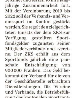Kanton will Sport fördern