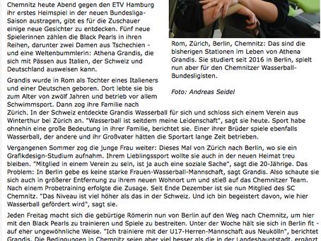 Unsere Athena spielt in Chemnitz (D)