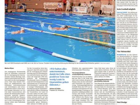 Wellen für Schwimmclub werden höher