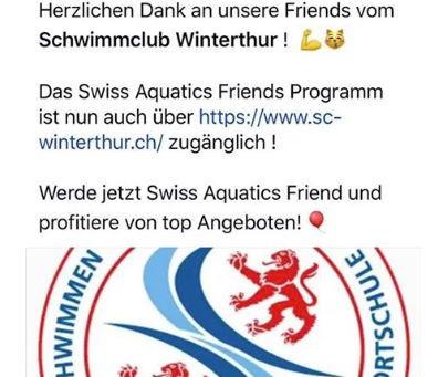 Swiss Aquatics Friends Programm