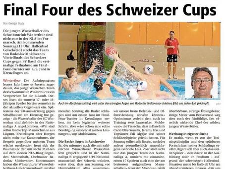 die Wasserballer wollen in die Final Four des Schweizer Cups