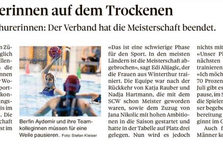 Winterthurer Wasserballerinnen auf dem Trockenen