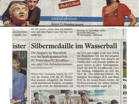 Unsere drei jüngsten Wasserballer werden U11- Vizeschweizermeister