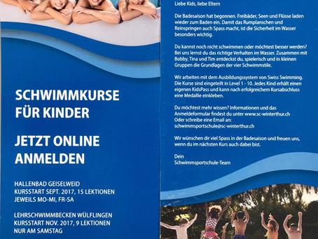 Neue Flyer für die Schwimmsportschule