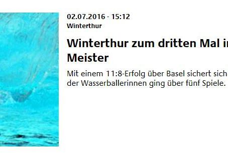 Winterthur zum dritten Mal in Serie Schweizer Meister