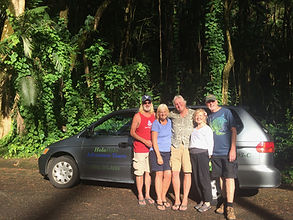 Guided day tours in Hawaii, tropical waterfalls